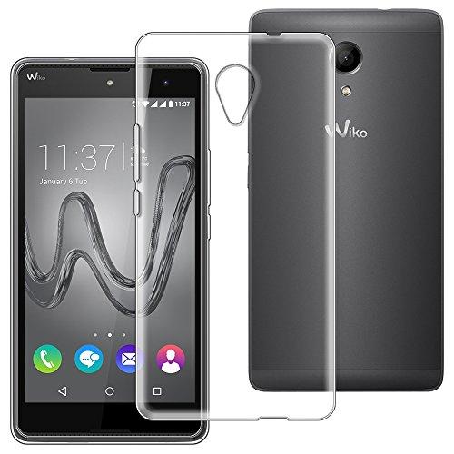 ebestStar - kompatibel mit Wiko Robby Hülle Handyhülle [Ultra Dünn], Premium Durchsichtige Klar TPU Schutzhülle, Soft Flex Silikon, Transparent [Phone: 155 x 79.1 x 10mm, 5.5'']
