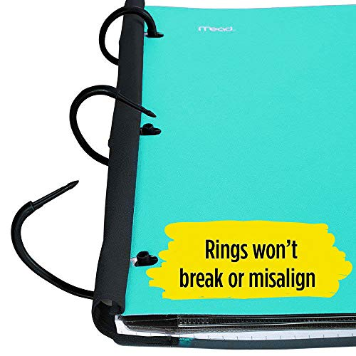 Five Star Flex Hybrid NoteBinder, 1-1/2 Inch Binder with Tabs, Notebook and 3 Ring Binder All-in-One, Teal (38681) Photo #5