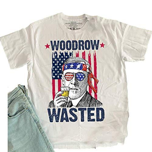 Woodrow Wasted Funny President-Wilson Drinking Meme 4th of July Patriot Tank Top, T Shirt, Long Sleeve, Sweatshirt, Hoodie