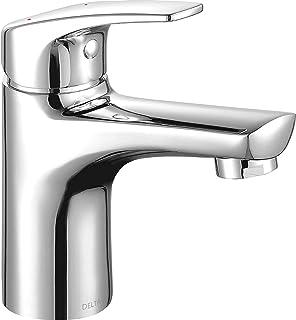 Delta Faucet Modern Single Hole Bathroom Faucet, Single Handle Bathroom Faucet Chrome, Bathroom Sink Faucet, Drain Assembl...