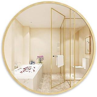 Home Wall Mirror,Bathroom Mirrors,Vanity Makeup Mirror Large Round Frame Bathroom Makeup Decorative Shaving Dressing Vanit...
