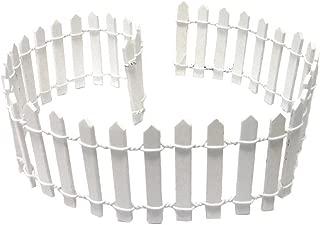 Miniature Fairy Garden White Wood Picket Fence, 18