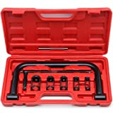 SUNROAD 5 Sizes Valve Spring Compressor C Clamp Pusher Repair Tool Set Replacement for Auto Motorcycle ATV Cars Small Engine