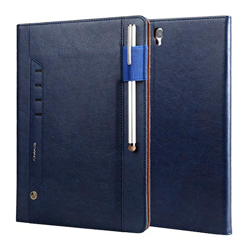 BZN For Galaxy Tab S3 9.7/T820 Tmall Kaka Litchi Texture Horizontal Flip Leather Case with Holder & Card Slot & Photo Frame & Pen Slot(Royal Blue)(Black)(Grey)(Brown)(Red) ( Color : Royal Blue )
