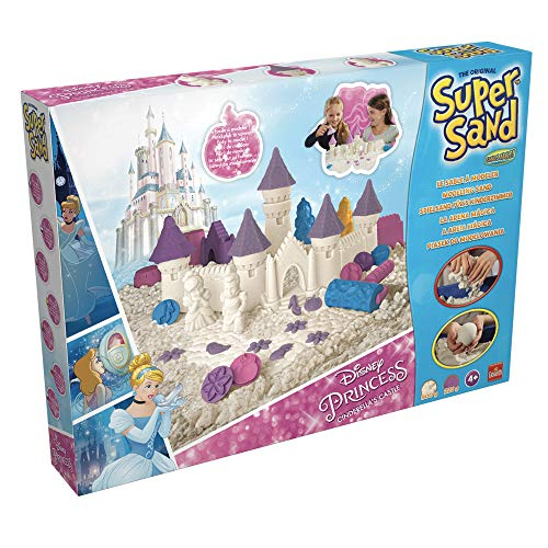 Súper Sand-83253 Disney Princess Castillo de Cenicienta, Arena Mágica para Niñas (Goliath 83253)