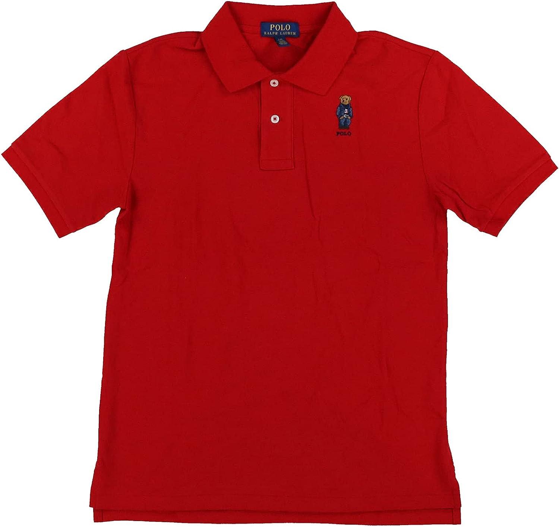 Polo Ralph Lauren Boys Mesh Bear Logo Polo Shirt