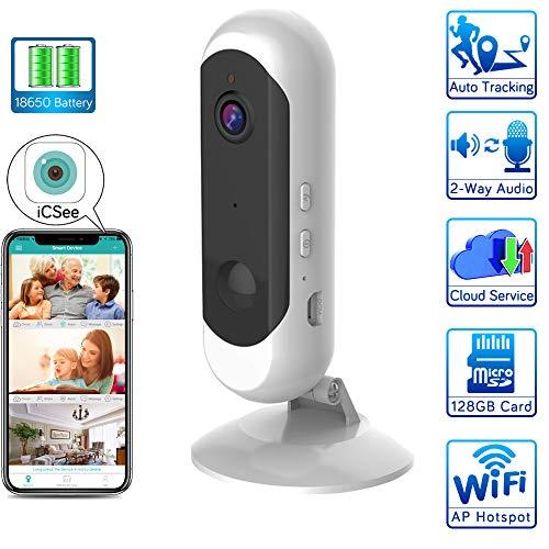 WiFi-beveiligingscamera, draadloze IP-camera, camera voor binnenshuis met nachtzichtfunctie, bidirectionele oproep, bewegingsdetectie, ondersteuning voor iOS, Android/Home/Baby/Pet-monitor