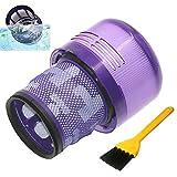 Blue Power Filtro Lavable Reemplazo para Dyson V11 SV14 Cyclone Animal Absolute Total Clean Aspiradora Repuestos Dyson V11 Accesorios Partes con Cepillo de Limpieza de 1 Pieza
