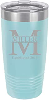 Sofia's Findings Personalized Stainless Steel Tumbler 20oz | Double Wall Stainless Steel Vacuum Insulated Water Bottle | Keeps Your Drink Hot & Cold - Miller Design