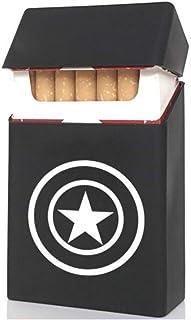 Custodia per sigarette, colore: nero morbido, motivo: stella