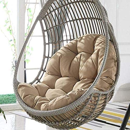 WAQIA Hanging Basket Hanging Egg Chair Cushions Hammock Chair Cushions Thick Nest Back Pillow for Outdoor Patio Garden Swing Chair Cushion Seat Pads (Khaki)