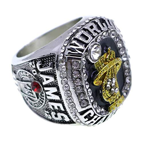 FGRGH Miami Heat James Replica Campeonato Anillo 2013, 2012 Campeonato Anillo MVP, Talla 11 2012