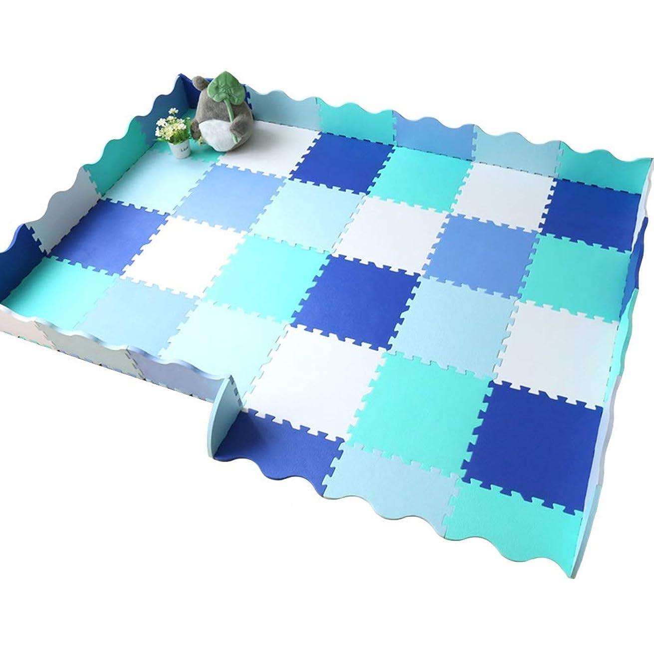 誰が不十分なバットWUZMING ジョイントマットEVA柔らかい連動タイルベビークロールマットフェンス付き子どもたちの活動リビングルーム寝室 (Color : B, Size : 30pcs)
