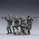 Mecotecn Figuras Soldados 1/18, 5 Piezas WW2 Alemania Wehrmacht Figura de Acción de Soldado con Arma