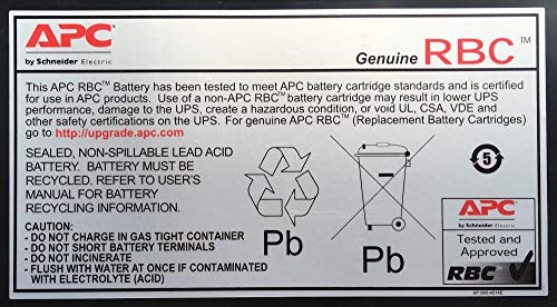 APC RBC2 - Replacement Battery Cartridge #2 *** Upgrade to a new UPS with APC TradeUPS and receive discount. don't take the risk with a battery failure ***