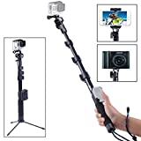 Smatree SmaPole Y2 Telescoping Pole Tripod Stand for GoPro Fusion/Session, GoPro Hero 2018/8/7/