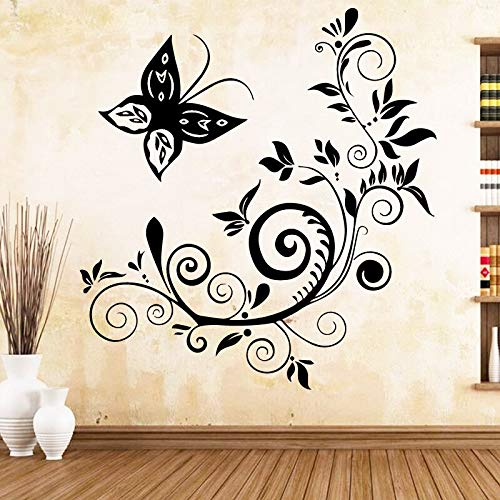 Ajcwhml Art Deco Accessoires Schmetterling Schwarz Kunststoff Wandaufkleber Kinderzimmer
