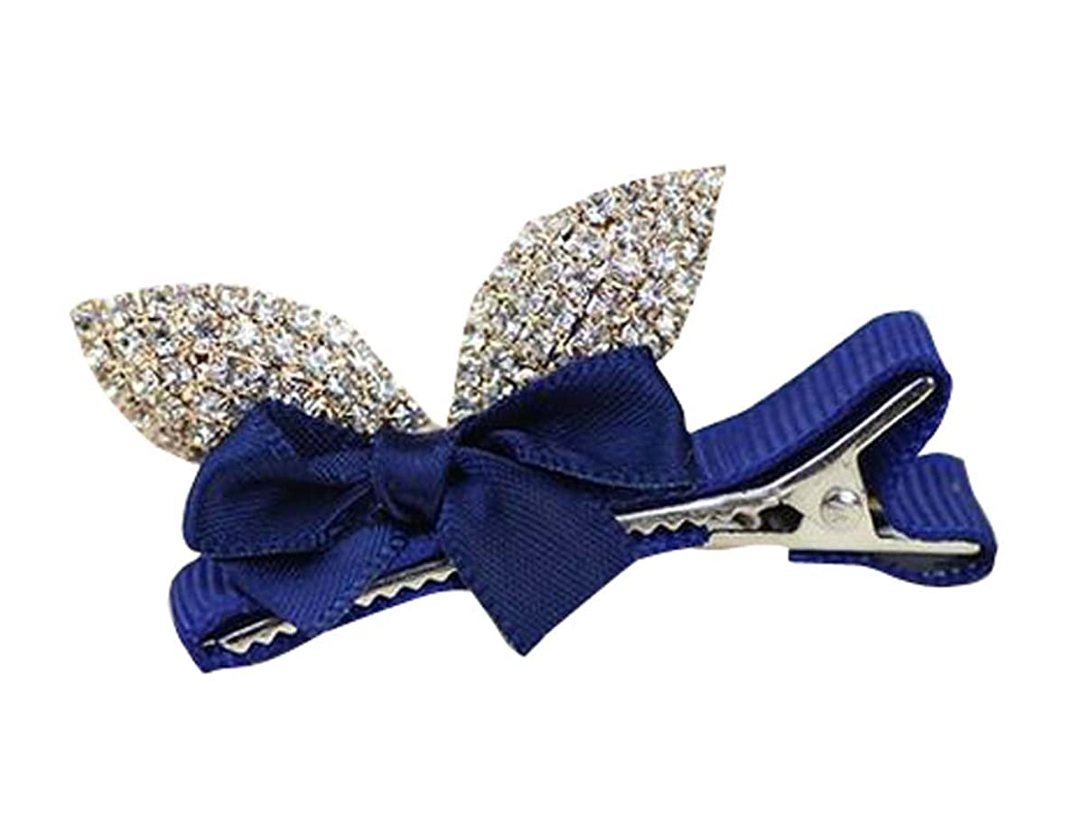 縫う寛大さ愛国的な2つのPCラブリークリスタルガールのヘアクリップ結婚式/パーティーのための青い髪の装飾品