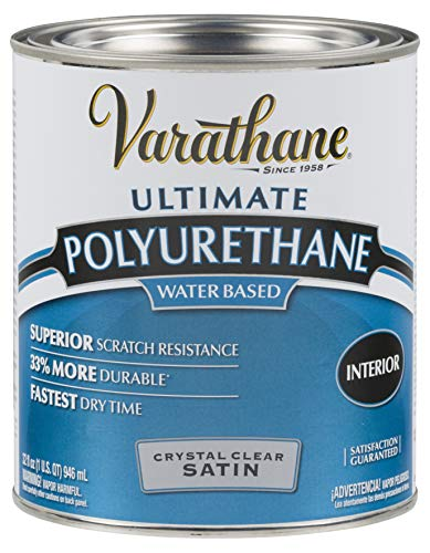 Varathane 200241H Water-Based Ultimate Polyurethane, Quart, Satin Finish