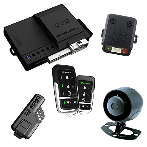 Excalibur AL17753DB 2-Way Paging Remote Start/Keyless Entry/Vehicle Security System (with 2 Button LED Remote and Sidekick Remote), 1 Pack