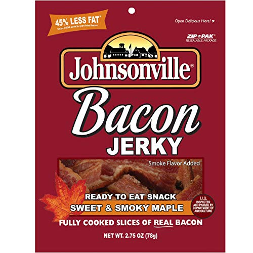 Johnsonville Sweet & Smokey Maple Bacon Jerky 2.75 Ounce Pack (3 count)