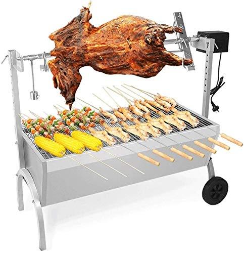 5124C66X0rL - KDKDA Jumbo Charcoal Grill Schwarze E-Fork Grill Zwei-Wege-Grill Gabel Adjustment zweilagig Großflächen Fahrzeug eingebaute Convenient Selbstfahr Barbecue Grill