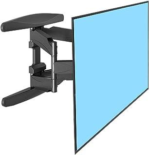 حامل جدار تلفزيون كامل الحركة لمعظم شاشات الكمبيوتر LCD LED 32-60 بوصة، قابل للتعديل، دوران قابل للدوران، وزن يصل إلى 36 ك...