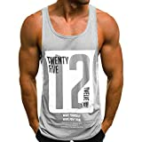 DZQUY Men's Muscle Gym Workout Stringer Tank Tops Sleeveless Summer Hipster Slim Fit Bodybuilding Training Athletic T Shirts