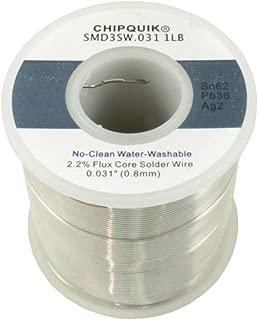 Solder Wire 62/36/2 Tin/Lead/Silver no-clean .031 1lb