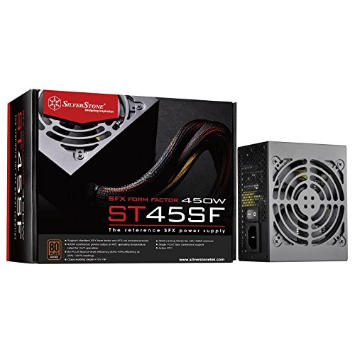 SilverStone SST-ST45SF v 3.0 - Alimentatore per PC SFX Series, 450W 80 Plus Bronze PC Power Supply, Low Noise 92mm