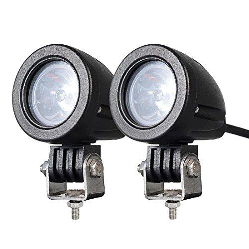 2PACK 12W LED Spot POD RACE LIGHTS Off Road Motorcycle Dirt Bike Fog Driving Work Lights 1200LM IP68 WATERPROOF