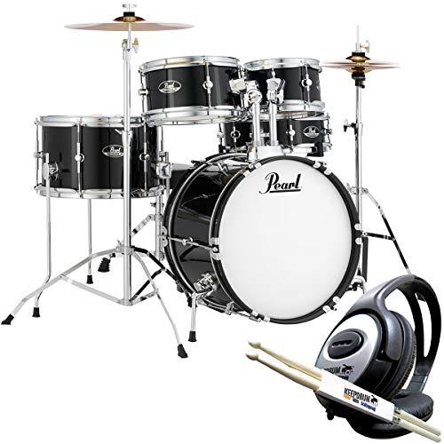 Pearl Roadshow RSJ465C/C31 Junior Schlagzeug Schwarz + keepdrum Kopfhörer u. Sticks