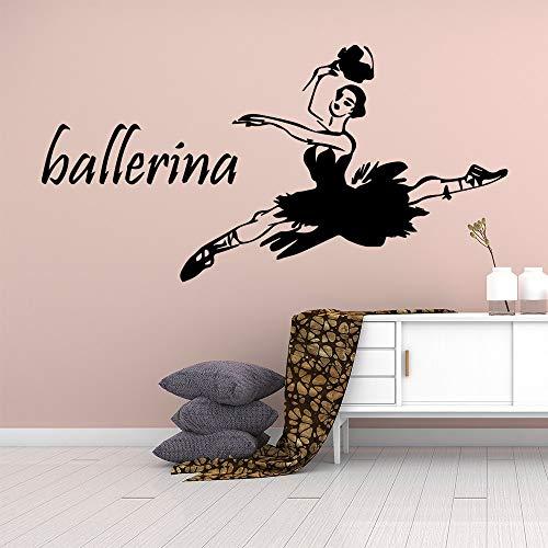 jiushivr Ballerina wall stickers house decoration living room bedroom decoration wall decoration M43x84cm