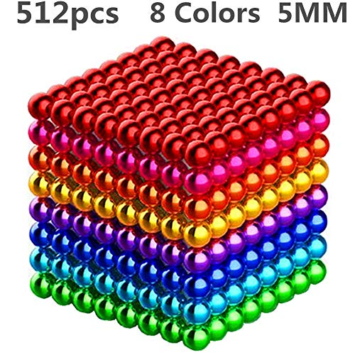 XIMI 512 Pieces 5 Millimeter Magnets DIY Toys Magnetic Sculpture Building Blocks...