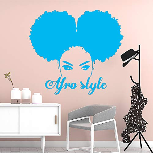 zqyjhkou Kreative Afrika Frau Wandkunst Aufkleber Dekoration Mode Aufkleber Für Kinderzimmer Dekoration Removable Decor Wandtattoos 5 L 43 cm X 47 cm