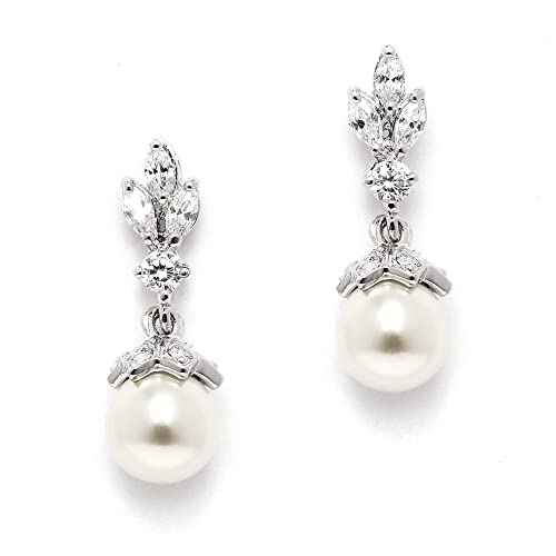 Wedding Pearl Earrings Amazon Com