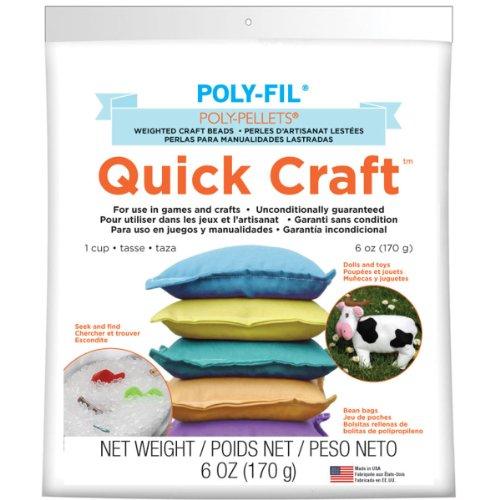 fairfield Poly-pellets Schnelle Gewichteter Craft Perlen, Mehrfarbig, 16,51x 11,43x 3,35cm