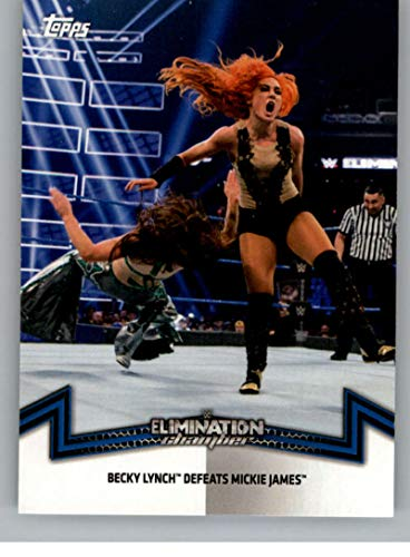 2018 Topps WWE Women's Division Memorable Matches and Moments #SDL-1 Becky Lynch Defeats Mickie James Wrestling Trading Card