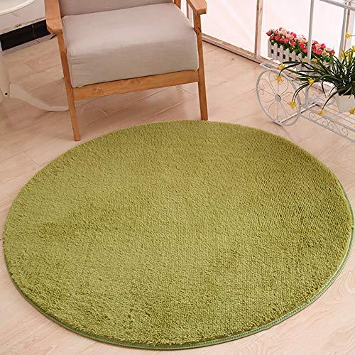 XRZY Dick Plüsch-Teppich, Runden Dekorationsmatten, Waschbar rutschfest Strapazierfähig Schwamm Seidenteppich für Wohnkultur Schlafzimmer Schlafsaal Mehrere Farben erhältlich