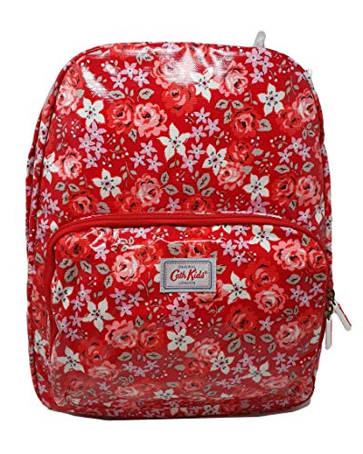 Cath Kidston 'Broomfield' Large Rucksack/Backpack on mid red Oilcloth