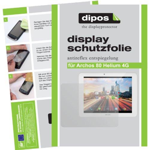 dipos I 2X Schutzfolie matt kompatibel mit Archos 80 Helium 4G Folie Bildschirmschutzfolie
