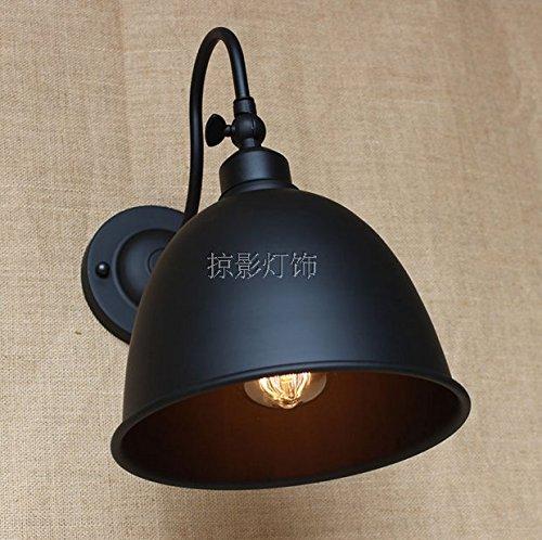 YU-K Antieke stijlvolle wandlamp industriële ventilator met snoer lange arm massief hout gepersonaliseerde creatieve cafe restaurantwand perfect voor thuis bar en restaurant