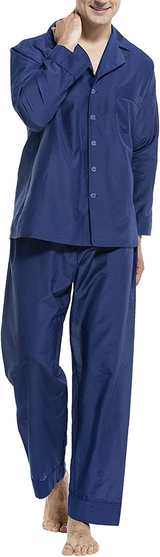 COLD POSHMen'sLongSleevePajamasSet2PCSoftSleepwear