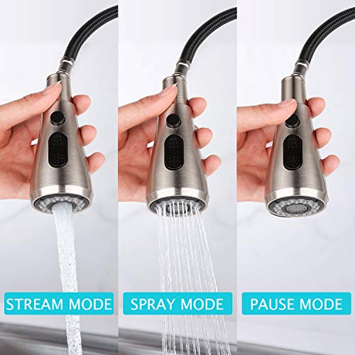 Kitchen Faucet, Single Handle Stainless Steel Kitchen Sink Faucet with Pull Down Sprayer, Pull Out Kitchen Faucets, Faucets for Kitchen Sinks