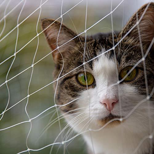 Katzenschutznetz 6 x 3 m für den Außenbereich, Balkon, Treppe, Fenster, Tür, Haustier-Sicherheitsanweisung, unsichtbar, verschiedene Größen erhältlich
