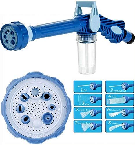 Schaumkanone | Waschpistole mit 8 Sprüheinstellungen | Wasserkanone für Reinigung im Garten | Autowäsche Schaumpistole | Schaumsprüher für Gartenschläuche | Schaumlanze Reiniger mit Seifenspender