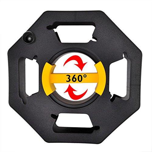 ProPlus Kabeltrommel ohne Kabel 33 cm Kabelrolle leer - Kabelwickler Megaspule Handkabeltrommel - 360 Griff - Gartenkabeltrommel