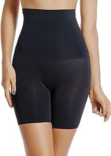 Tummy Control Shapewear Shorts Women High Waist Body Shaper Thigh Slimmer Slip Short Panty (Black-Smooth, 3XL)