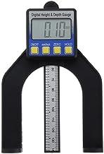 HUDEMR Tratamiento de la Madera Regla de Sierra 80mm métrica de medición Medidor Digital de Altura Profundidad for Trabajar la Madera Mesa de Plata Sierra Plaza Carpintería de Aluminio