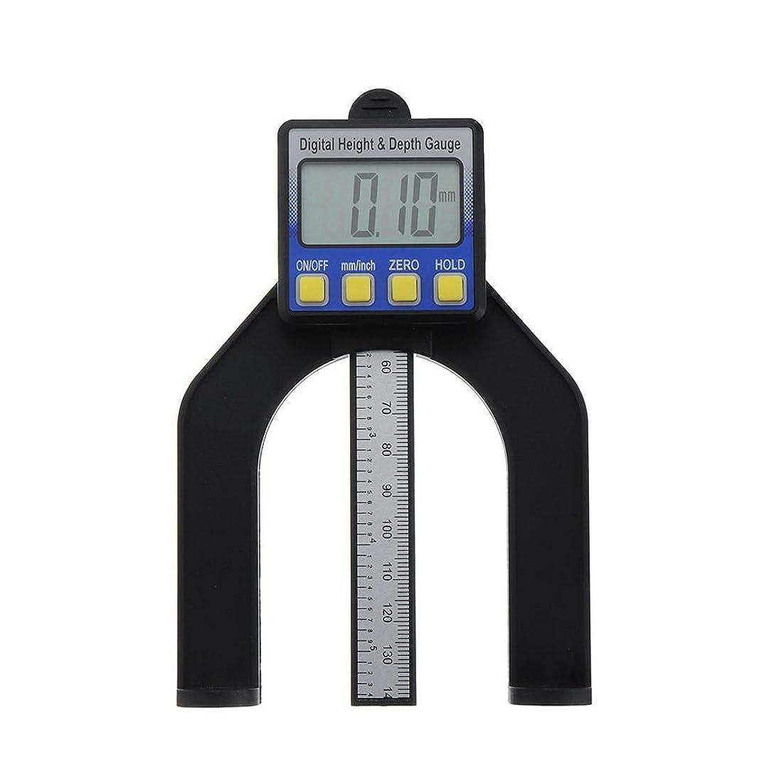ポケット邪魔政治測定定規 テーブルソー木工用デジタル高さ、深さゲージを測定する80ミリメートルメトリック。 (色 : 銀, サイズ : A)